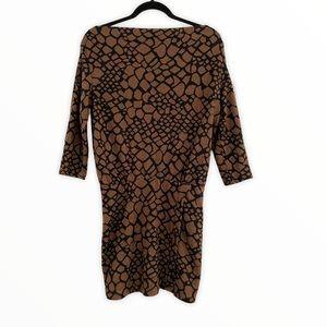 DEREK HEART off shoulder 3/4 sleeve dress